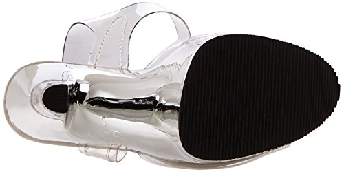 Pleaser XTREME-808 Clr/Slv Chrome Size UK 9 EU 42