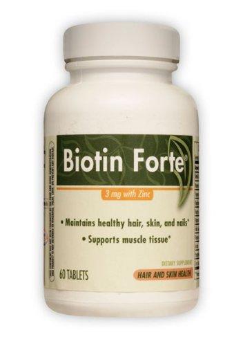 Биотин Форте 3 мг цинковой ферментативной терапии Inc. 60 таблеток