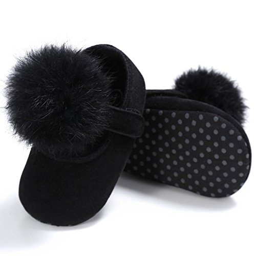 Zapatos de bebé, Switchali zapatos bebe niña primeros pasos verano Recién nacido Niña Cuna Flor Suela blanda Antideslizante Zapatillas Bebé niño vestir casual Negro