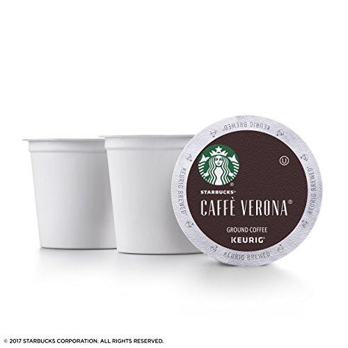 Starbucks Caffè Verona Dark Roast Single Cup Coffee for Keurig Brewers, 4 Boxes of 24 (96 Total K-Cup pods)