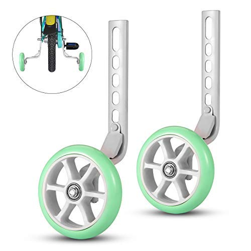 ZOSEN Bicycle Training Wheels Bike Stabilizer Kid's Bike Novice Riding Essential Accessory Support Wheels for 12 14 16 18 20 Inch Bicycle