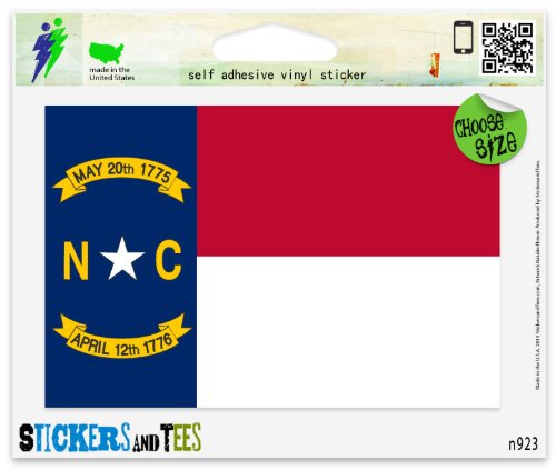 North Carolina State Flag Vinyl Car Bumper Window Sticker 3