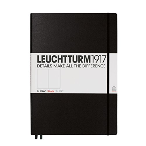 Leuchtturm1917 Classic Hardcover Master Sketchbook Black (Classic Diary A4 Size)