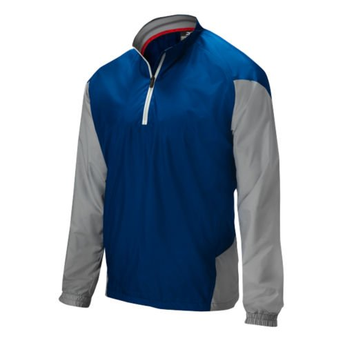 Mizuno Youth Pro Windproof Batting Jacket, Navy/Grey, Medium (Jackets Mizuno Batting)