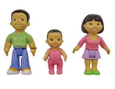 Fisher Price My First Dollhouse Figures, Mom, Dad, Baby - (Dollhouse Dad Figure)