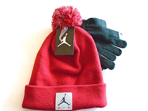 san francisco c375c 9b747 Air Jordan Jumpman Knit Cold Weather Beanie Hat and Gloves Set Cuffed Cap  (Red) YOUTH 8-20 - Buy Online in KSA. Apparel products in Saudi Arabia.