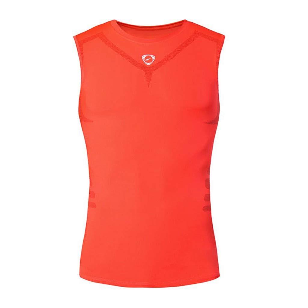 Winsummer Men's Classic Tank Top Muscle Gym Workout Sleeveless Vest Stringer Bodybuilding Fitness T-Shirts Orange