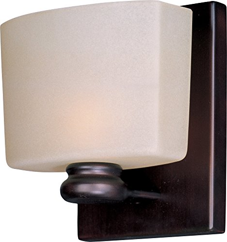 Maxim Lighting 9001DWOI Essence 1 Light ADA Compliant Wall Sconce – Outdoor Lighting with Oil Rubbed Bronze Finish, Dusty White Glass. Lighting Fixtures by Maxim Lighting