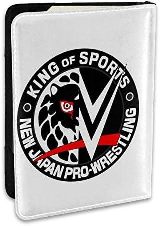NJPW X WWE 新日本プロレスリング パスポートケース パスポートカバー メンズ レディース パスポートバッグ ポーチ 収納カバー PUレザー 多機能収納ポケット 収納抜群 携帯便利 海外旅行 出張 クレジットカード 大容量