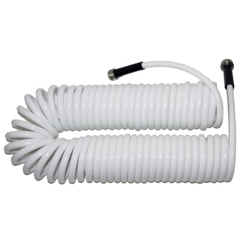 (Plastair SpringHose PUW650B9-M-11S-AMZ Light Polyurethane Lead Free Drinking Water Safe Marine/RV Recoil Hose, White, 3/8-Inch by 50-Foot)