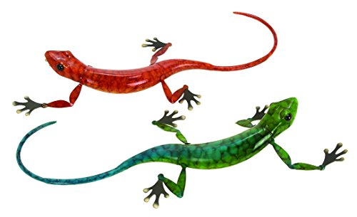 Deco 79 98387 Decorative Metal Lizard