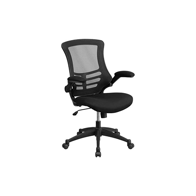 Mid-Back Black Mesh Swivel Task Chair wi