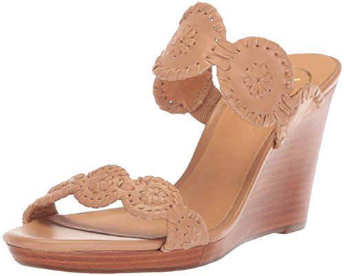 Jack Rogers Women's Luccia Wedge Sandal, Buff/Buff, 10 M US by Jack Rogers