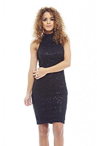 glam black midi dress - 3