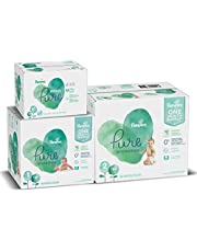 Diapers Size - Pampers Pure Protection Disposable Baby Diapers, Hypoallergenic and Unscented Protection, ONE Month Supply (Packaging May Vary)