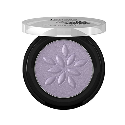 Lavera Beautiful Mineral Eyeshadow (Frozen Lilac #18), Natural Color With Long-Lasting Intense Color (0.06 Ounce Cream Eyeliner)