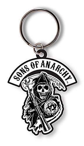 Sons of Anarchy - Reaper - Oficial Llavero de Goma - Negro, OS
