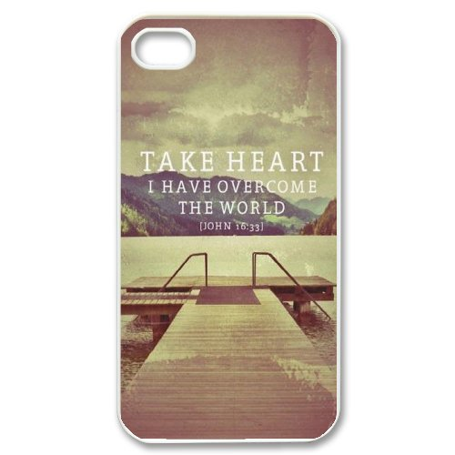 Alice iPhone 4,4s Case,Personalized Custom Verses Christian Quotes ,Unique Design Protective TPU Hard Phone Case Cover