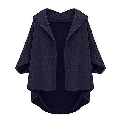 Womens Jacket,Gillberry Plus Size Autumn Bat Sleeves Cropped Sleeves Winter Woolen Coat -