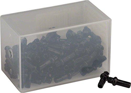 DT Swiss Squorx Pro Head 2.0 x 15mm Black Alloy Nipple, Box of 100