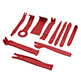 uxcell 11 in 1 Red Car Door Clip Audio Rideo Stereo Dash Removal Pry Dismantle Tool