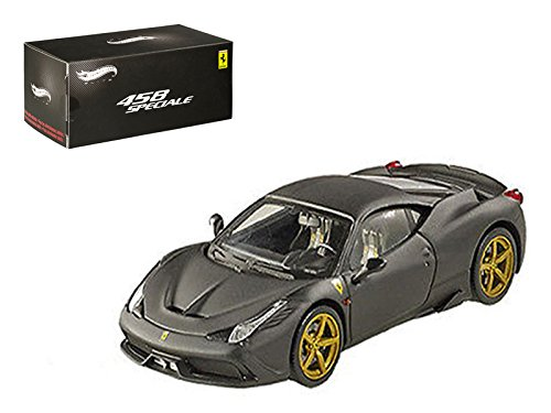Hot wheels Ferrari 458 Italia Speciale Matt Black Elite Edition 1/43 Model Car by Hotwheels