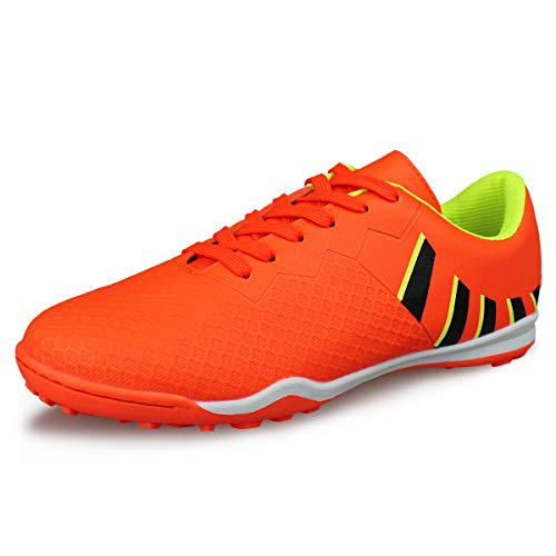 566807b629e72 Hawkwell Men's Athletic Lightweight Running Outdoor/Indoor Comfortable Soccer  Shoes,Orange 9 M US