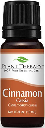 Plant Therapy Cinnamon Cassia Essential Oil. 100% Pure, Undiluted, Therapeutic Grade. 10 ml (1/3 oz).
