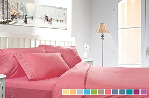 Clara Clark Bed Sheet Set - Brushed Microfiber Premier Colle