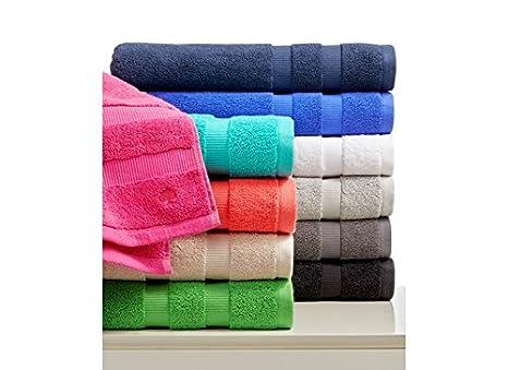 10 toallas de baño de lujo, 40x60 cm, de 600 A 850 gr/m², Estilo hotel o spa, de cero torsión, 100% algodón egipcio. - 40 x 60 cm: Amazon.es: Hogar