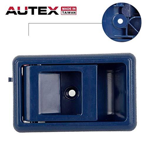 AUTEX Door Handle Blue Interior Front/Rear Left Driver Side Compatible with Toyota Corolla Pickup Tacoma 4Runner Tercel,Geo Prizm 88 89 90 91 92 93 94 95 96 97 98 1999 2000 Door Handle 77121 Blue Interior Rear Door Handle