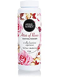 Rose and Sandalwood, Talc-Free, Silky Dusting Powder | Absorb dampness and odor and make your skin soft and smooth