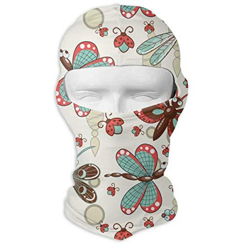Cartoon Dragonfly Ladybug Windproof Dustproof Face Mask Balaclava UV Prevention Hood Hat