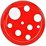 MamboCat - Set da 50 coperchi per vasetti in vetro TO-82 da 230/350/435 ml, colore rosso con pois bianchi