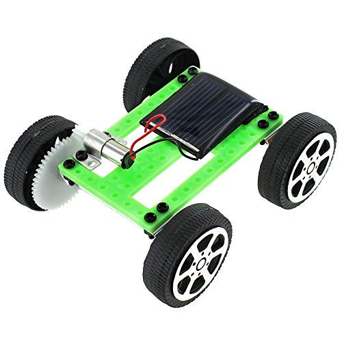 xUmp.com Micro Solar Car Kit - Make Your Own Solar Powered Car - Educational DIY STEM Science Activity