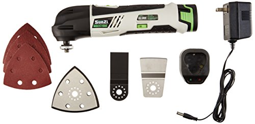 SunZi PT12301-11 Cordless 12V Variable Speed Lithium-Ion Multi-Tool Oscillating Kit by SunZi Products Inc.