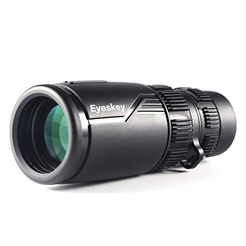 Eyeskey Powerful 8-24X42 Zoom Compact Monocular Telescope | Packet Size Lightweight | Bright and Crystal | Waterproof | Fog Proof | Wide Field of View | HD Scope for Wildlife Watching Sports Events