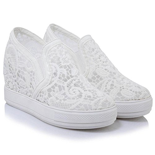 Sneakers Platfrom Summer Women KemeKiss Shoes White xaCt7F4qw