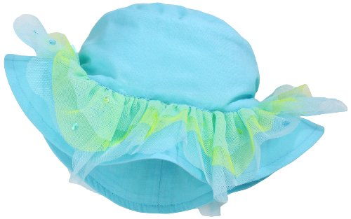 Kate Mack Baby Girls' Hula Flowers Hat, Aqua, ALL