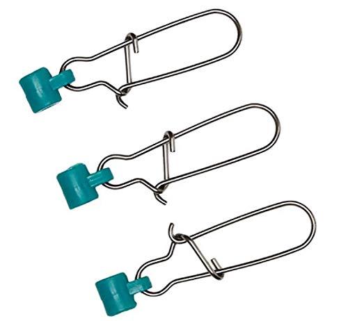 Zenrick 100 Packs Fishing Line Sinker Slide Swivel with Snap Heavy Duty Sinker Sliders Size 8# (100 Pieces)