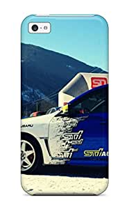 Premium Tpu Subaru Rally Blue Car Parked In Snow Cover Skin For Iphone 5c