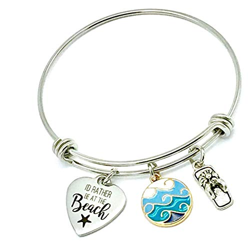 I'd Rather Be at the Beach, Ocean Waves Expandable Bangle ()