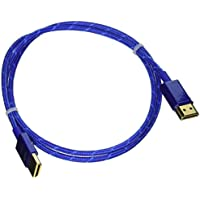 Monoprice 3ft 18Gbps Ultra Slim Series High Performance HDMI Cable w/ RedMere Technology - Blue