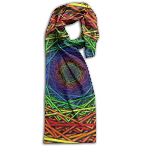 Colored Psychedelic Trippy Art Wallpaper Winter Scarves Lightweight Warm Towel Stylish Shawl Scarf - Burberry Size Guide