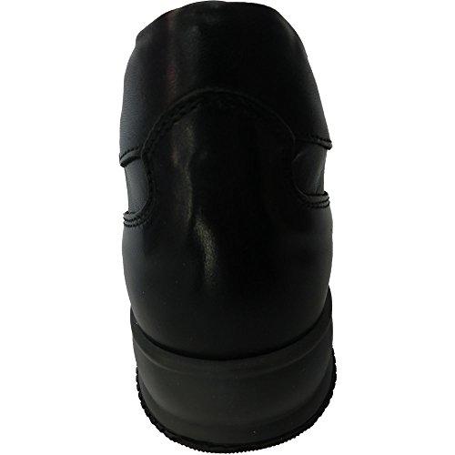 Exton Chaussures 0728 Interactive - Made In Italy Sneaker En Cuir, Croûte Bleu, E53 Caoutchouc Noir Moyen, M 1340 0046, Bleu 2029 (46)