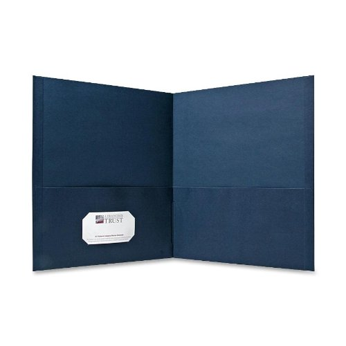 (Sparco Double Pocket Portfolio, 125 Sheet Capacity, 25 per Box, Dark Blue (SPR71437))