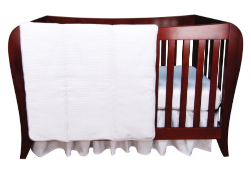 Pique Crib Bedding Set (Trend Lab White Pique 3 Piece Crib Bedding Set)