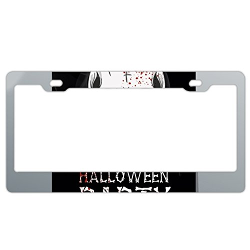 XXXRong Halloween Printable Flyer Aluminum alloy Metal Auto License Plate Frame Car Tag 12