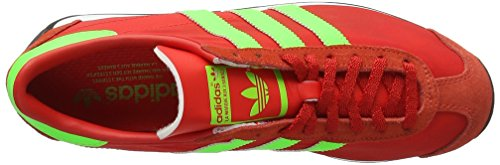 adidas Country OG - Entrenamiento y Correr Hombre Rojo (Red/Solar Green/Vintage White S15-St)