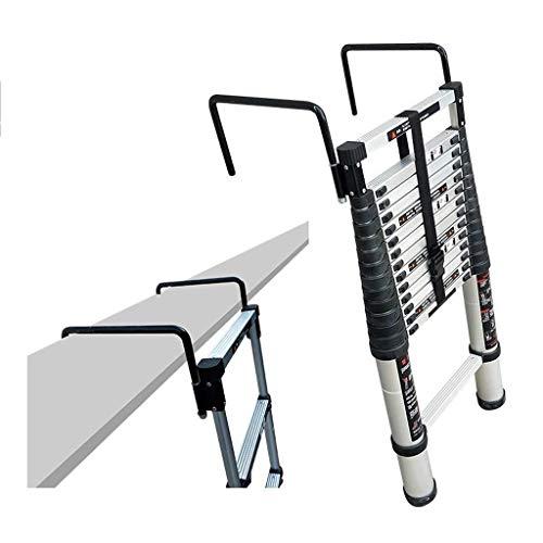 BAOFI Escalera Plegable de Aluminio, Multiusos, portátil, Extensible, con Gancho para Uso en casa, Oficina, almacén…